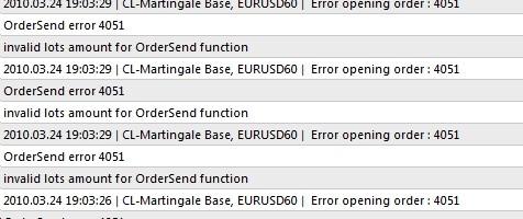 Error opening order