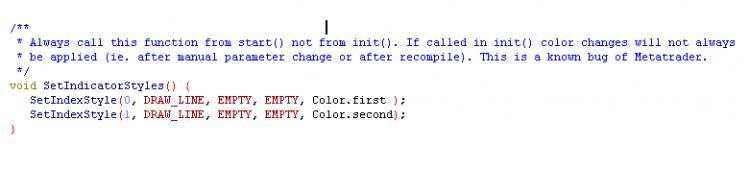 Color management for indicators