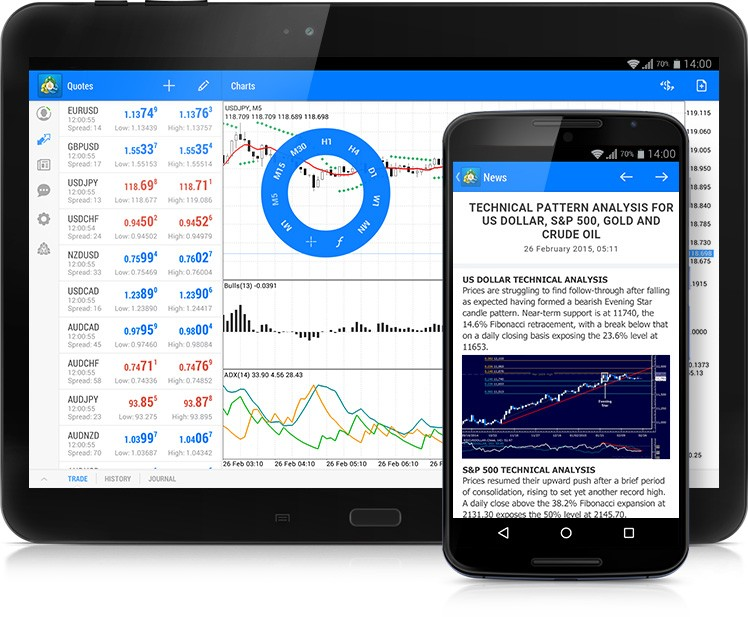 Updated MetaTrader 4 for Android: New Design, News Line and System Journal