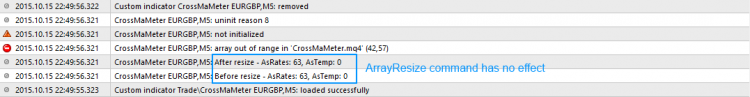 ArrayResize issue