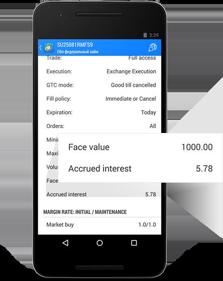 MetaTrader 5 Android Build 1172:便利的图表缩放以及债券属性的应计利息