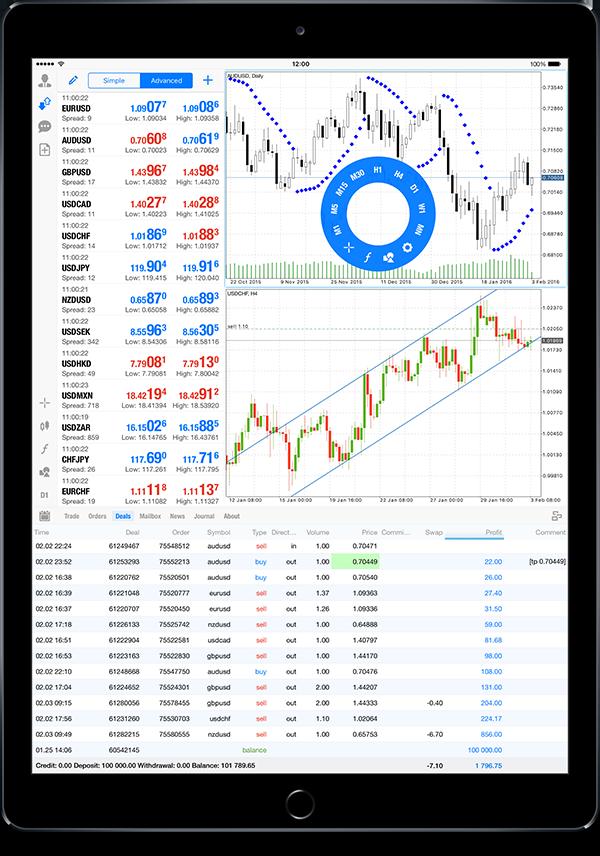 MetaTrader 5 iOS build 1225支持iPad Pro并在iPad上添加纵向模式