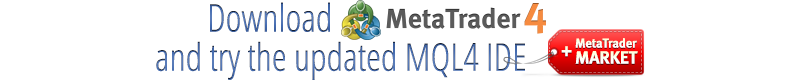 Download MetaTrader 4 to get new MQL4 and trading robots Market